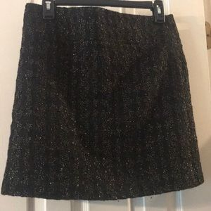 Black with gold skirt
